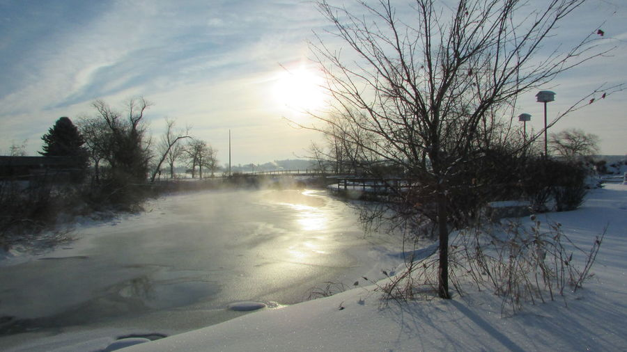 Taking Photos Winter_collection Windy Day Clam River Walkway Cool_capture_ Sunny Day Very Cold Morning Cadillac Michigan