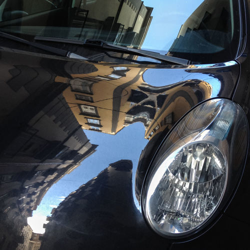 Car reflection, Napoli, Campania, Italy Blue Built Structure Car City City Life City Life Cityscape Cityscapes Fiat Landscape Light Mode Of Transport Modern Napoli No People Outdoors Part Of Reflection Sightseeing Spaccanapoli Tourism Travel Destinations Traveling