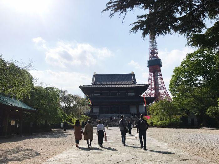 増上寺と東京タワー Tokyotower Temple
