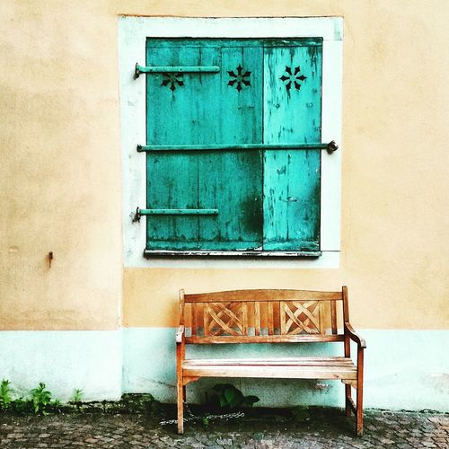 Built Structure Architecture Chair Building Exterior Colorful Vintage Germany Photos Official EyeEm ©Street Life Streetphotography Viewfromabove View From My Window Green Color Building Exterior Window Built Structure Door Win Rural Scene Rural Life Countryside Deutschland