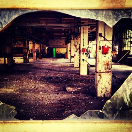 industrial scenery.. once upon a time. Indusrty Dresden Windows Yesterday
