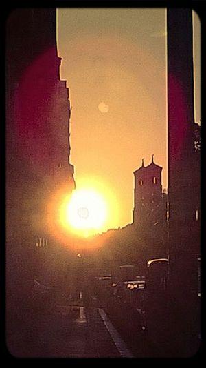 Sonnenuntergang ❤ Berlin Kreuzberg 1.06.2014 Deutschland. Dein Tag