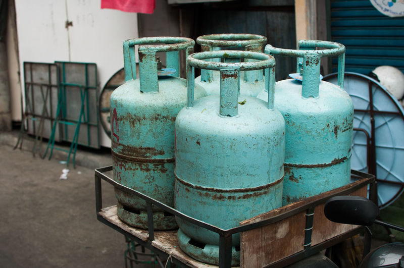 Cylinders by building