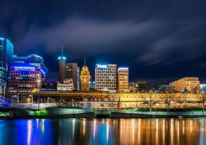 Peaceful Australia Melbourne Melbourne City Nightscape Lanscape City Cityscape Cityscape Photography Photography Cloud City Clouds City Lights City View  Night Lights Night Photography Sonyalpha City Downtown District Reflection Business Finance And Industry Modern Built Structure Travel Destinations City Life No People Outdoors Nightlife Sky Water