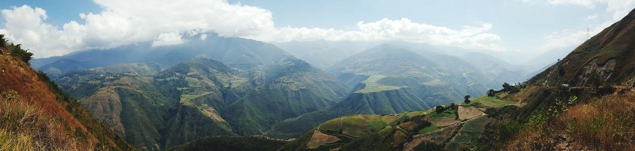 Panoramic shot of mountain range