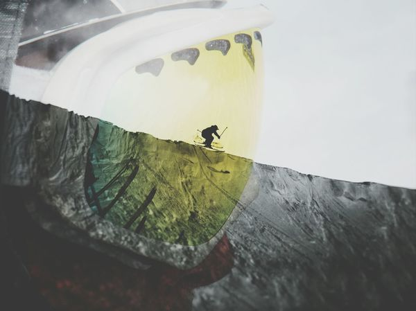 Nature Outdoors Close-up Double Exposure Skiing Lakelouise Extreme Sports High Contrast Silhouette Snow Winter Snowboarding Vacation Go Higher