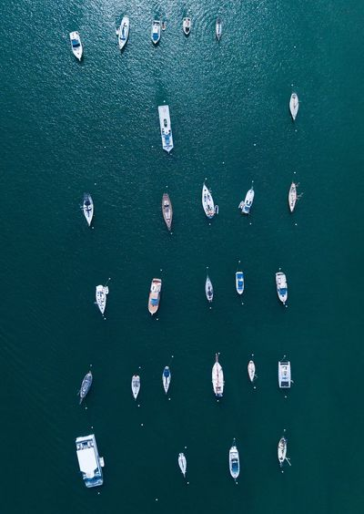 Check Mates Grid Boats Water High Angle View Day No People Sea Nature Outdoors