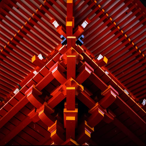 Red No People Architecture Built Structure Day Indoors  Shinto Shrine Ōtsu-shi Japan Film Photography Medium Format 6x6