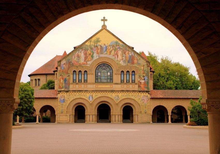 Arch Arches Architecture Building Exterior Built Structure California College Cross Early Morning Façade Higher Education Historic History Old Plaza Public Religion School Spanish Architecture Stanford Stanford University University University Campus Embrace Urban Life Urban