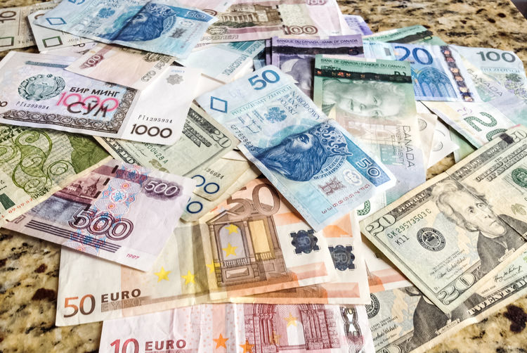 Currency Wealth Finance Paper Currency Business Large Group Of Objects Corporate Business Abundance Exchange Rate Savings No People Close-up Heap Making Money Multi Colored Banking Backgrounds Indoors  Directly Above Consumerism Bank Economy