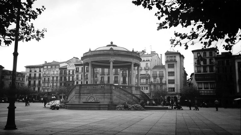 Running in Pamplona Walking Around Pamplona Blackandwhite Cityscapes