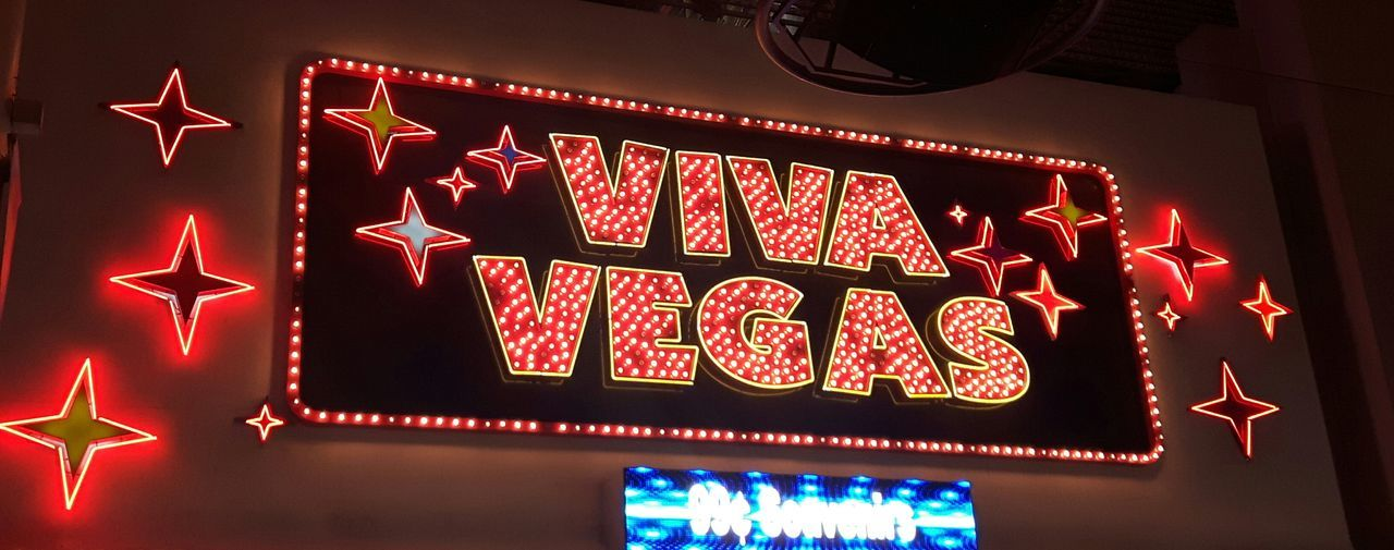 Illuminated Text Red Night No People Low Angle View Neon Fremont Street Experience Neon_signs Outdoors Built Structure Architecture Travel Destinations Las Vegas Arts Culture And Entertainment Celebration Viva Vegas
