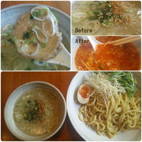 Tokyo Ikebukuro Ikebukuro Foodporn Lunch Time! In My Mouf Enjoy A Meal ラーメン とんこつ Food Porn らあ麺 燕返し(ºωº)海老塩とんこつつけ麺 背脂有りましたが玉ネギのお陰か脂っぽく無かったです 麺は…うどん並の太さ