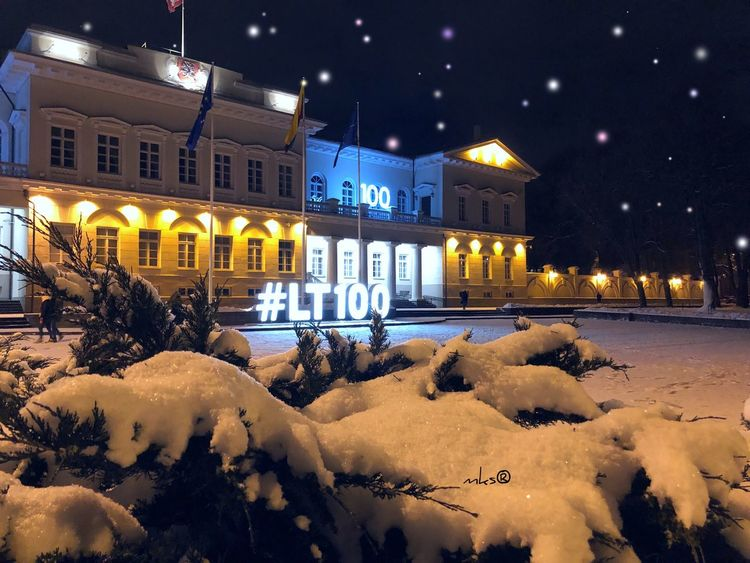 -20 degrees feeling EyeEm Best Shots EyeEmNewHere Night Building Exterior Illuminated Architecture Built Structure Winter Snow Cold Temperature City