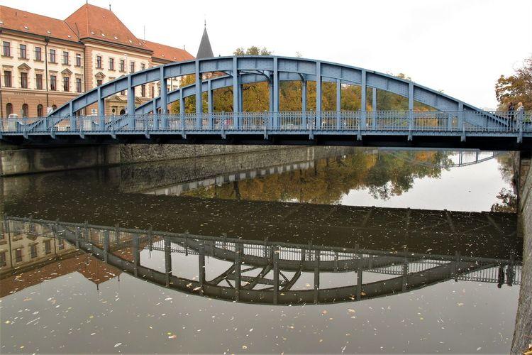 Czech Republic Arch Bridge Architecture Bridge Bridge - Man Made Structure Building Exterior Built Structure City Connection Day Reflection River Transportation Water Waterfront