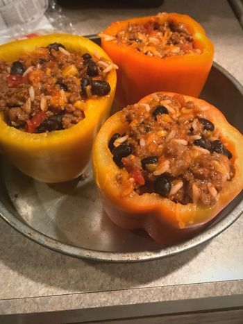 Stuffed Peppers Peppers Food Food And Drink Ready-to-eat Indoors  Still Life Plate Freshness
