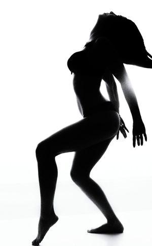 Silhouette Women Girl, Artfoto Bodyart