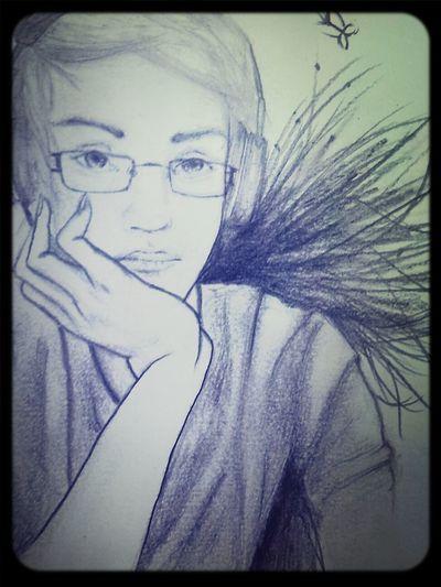 Self portrait I did for art. Self Portrait My Drawing Thats Me