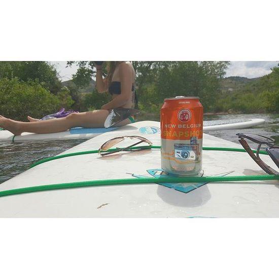 Just a snapshot of a snapshot while paddle boarding our worries away Horsetooth Horsetoothreservoir Newbelgium Beer Sun Colorado