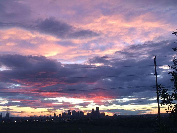 Calgary Down Town Calgary  Sunset