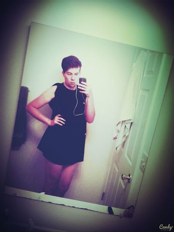 Just a little black dress.