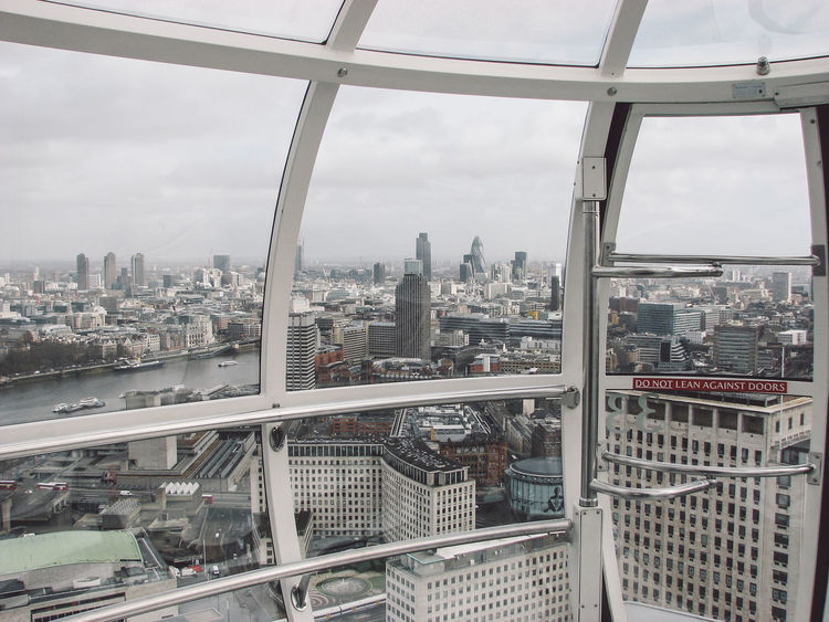 Aerial View Architecture Building Exterior Built Structure Capital Cities  City City Life Cityscape Cloud Cloud - Sky Crowded Day Famous Place Indoors  International Landmark London Eye London Eye, London Modern Residential District Sky Skyscraper Tower Travel Destinations View