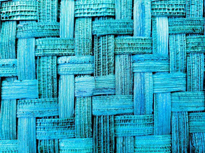 Full frame shot of blue textured pattern