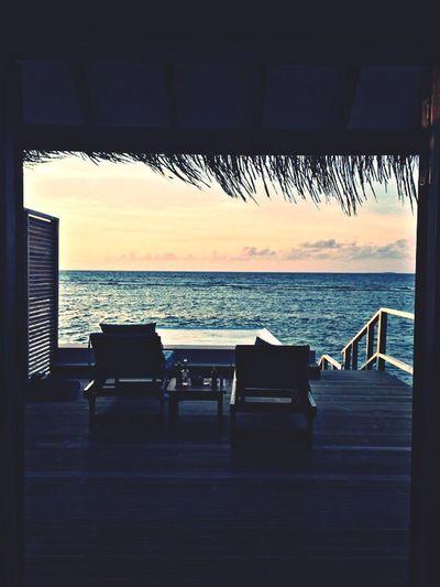 The view Over Water Villa Maldives Good Morning