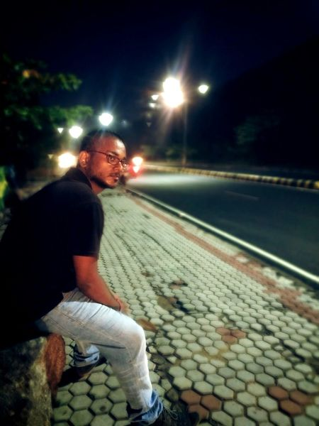 Night Illuminated Mature Adult Only Men Adults Only Outdoors Street Vizag Roadside Road The Street Photographer - 2017 EyeEm Awards 100 Days Of Summer Sommergefühle EyeEm Selects