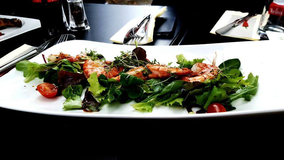Gambas Scampi Salad Appetizer Summer Salad