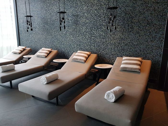 Spa area by the pool Hotel At The Hotel Relaxation Relaxation Area Long Chair Lounging Spa Area Spa