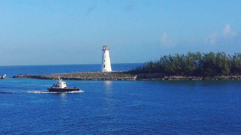 Nassau by morning Lighthouse Blue Sea Nassau, Bahamas First Eyeem Photo