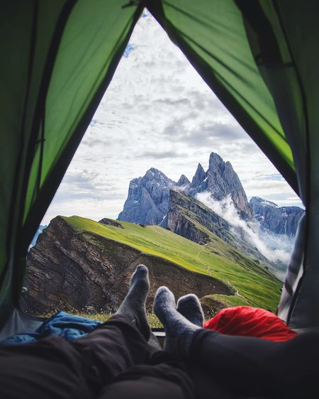 View Tent Seceda Italy Nature Green EyeEm Best Shots EyeEm Nature Lover Eye4photography  EyeEmNewHere EyeEm Gallery EyeEmBestPics EyeEm Best Edits EyeEm Best Shots - Nature The Great Outdoors - 2017 EyeEm Awards