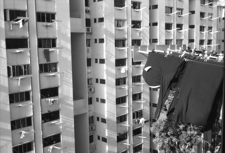Acros100 Blackandwhite Building City City Life Clothes Film Film Photography Fuji Myhome Residential Building Showcase April