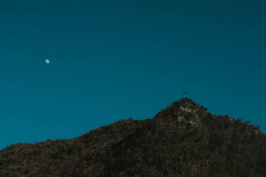 Moonrise! Hà Giang Moon Travel Vietnam View Blue Bluesky Landscape Minimalism Mountain Sky Sony Sonya7II