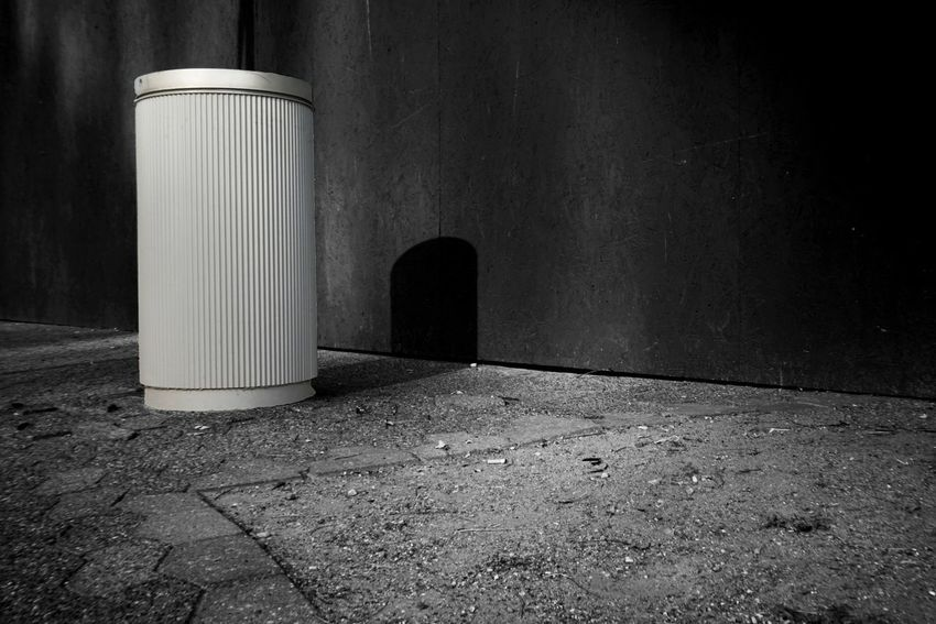 Bin No People Wall - Building Feature City Day Street Nature Architecture Outdoors Built Structure Textured  Still Life Sunlight Shadow Wall Metal Single Object Asphalt