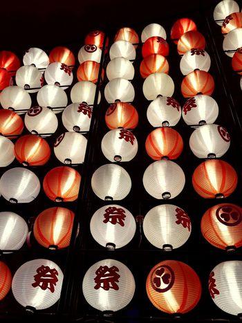 8月。浦安大江戸温泉物語にて。 Close-up Indoors  Illuminated Orange Color Festival Summer お祭り ちょうちん