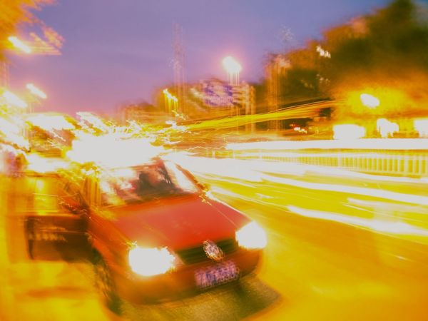 Car Transportation Blurred Motion Traffic City Night Street Motion Speed Road Outdoors Land Vehicle No People Stoplight Illuminated Sky