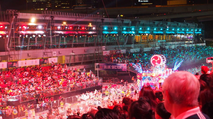 Audience Chingay Chingay2017 Crowd Illuminated Japanese  Large Group Of People Men Music Night Outdoors People Performance Popular Music Concert Real People Singapore Stage - Performance Space Women ソーラン節 Carnival Crowds And Details Carnival Crowds And Details