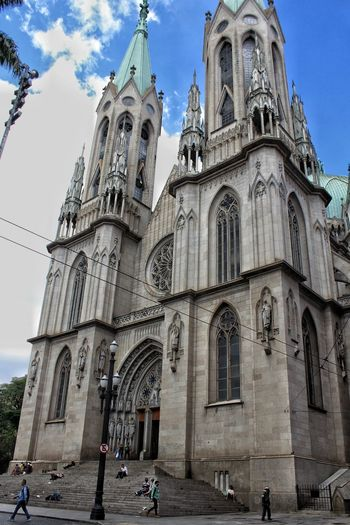 Catedral de S. Paulo Brasil S. Paul Cathedral Cathedral City Place Of Worship Spirituality Religion History Statue Sky Architecture Building Exterior Built Structure