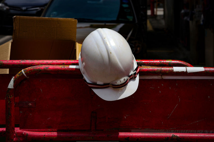 Safety Hard Hat Construction Close-up