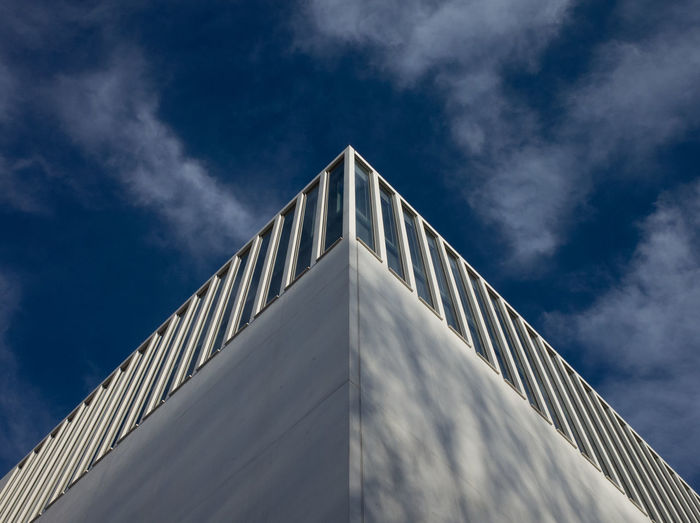 Architecture Architecture_collection Urban Geometry Architecture Architecturelovers Architecturephotography Building Exterior Built Structure Cloud - Sky Day Low Angle View Modern Outdoors Sky Triangle Shape