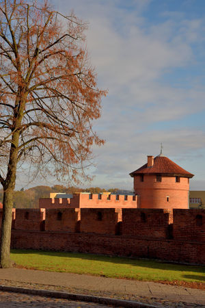 Malbork Castle Angles Architecture Autumn Black Cross Knights Blue Sky Building Exterior Built Structure Castle Day Gothic History Malbork Mediaeval Medieval Middleages No People Outdoors Poland Red Bricks Sky Teutonic Knights Turret