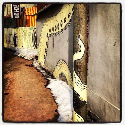 Octopus, Mural Alley, Suwon