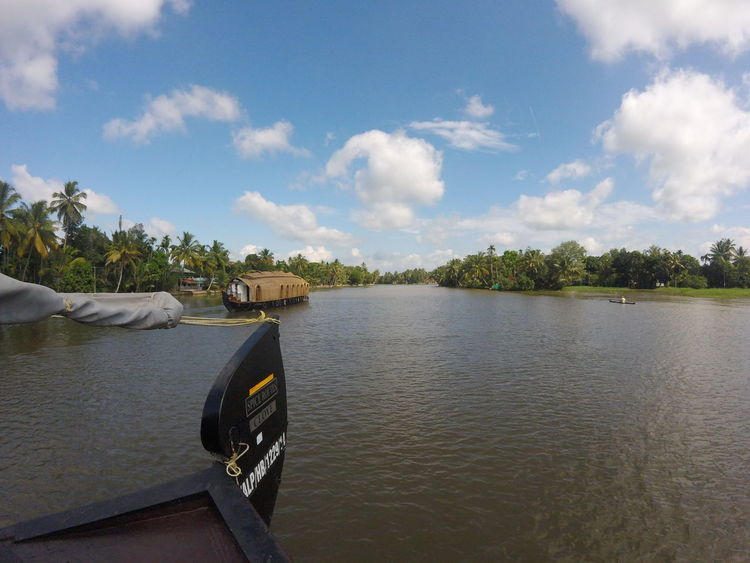 South India back waters Miles Away Houseboat Travel Destinations Water Scenics India ASIA Discover  Explore No Filter Landscape Cloud - Sky Green Water Goprohero Gopro Shots Goprophotography Beauty In Nature Day South India No People Sommergefühle EyeEm Selects