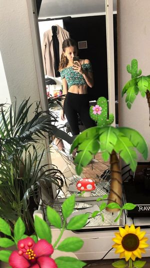 Hiding ma chaos Skin Abs Tattoos Plant Potted Plant Real People One Person Lifestyles Standing Growth Nature Leaf Green Color Indoors  Women Nature Plant