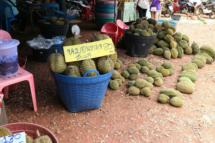 EyeEm Best Shots ASIA Food And Drink Durian Travel Price Tag Market Retail  Choice Vegetable Variation Market Stall For Sale Food And Drink Farmer Market Market Vendor Vendor Bazaar Tattooing Asian Style Conical Hat Kiosk Vehicle Breakdown Pakistan Jockey Indian Subcontinent Selling