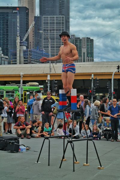 Up Close Street Photography Street Style Performer  Basking Melbourne City