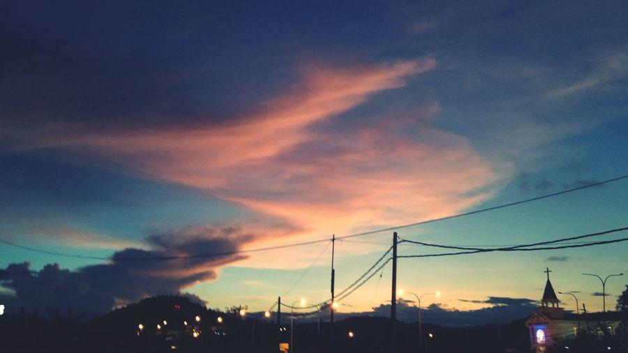 Good Evening, everyone!~ l Lahad Datu Sabah Malaysia l 5th May 2016 l 06:43:28 PM l Evening Evening Sky Clouds And Sky Streetphotography Sabah