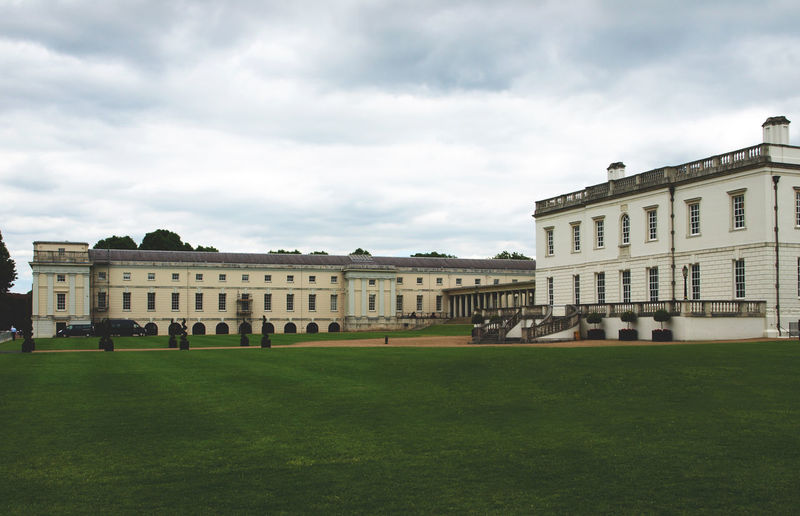 Architecture Building Exterior Built Structure City City Life Cloud - Sky Day Façade Government Grass Greenwich London London United Kingdom No People Outdoors Royal Naval College Sky